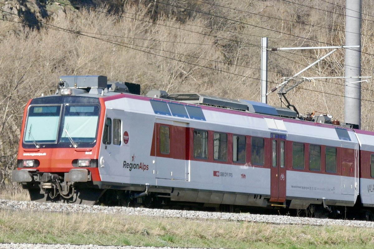 RegionAlps Domino am 24.3.20 unterwegs nach Brig.